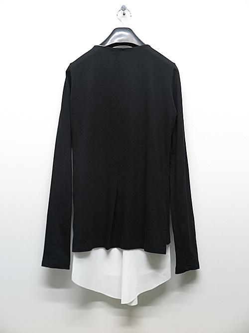 (予約品)6月入荷予定/kiryuyrik・キリュウキリュウ/Jersey Layered Frill T-Shirts/Black&White