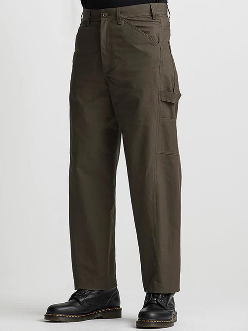 Ground Y・グラウンドワイ/Cotton canvas Slim painter pants/KHAKI