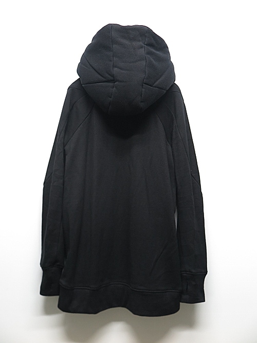 D.HYGEN・ディーハイゲン/無撚糸裏毛ロングフーデットJKT/BLACK