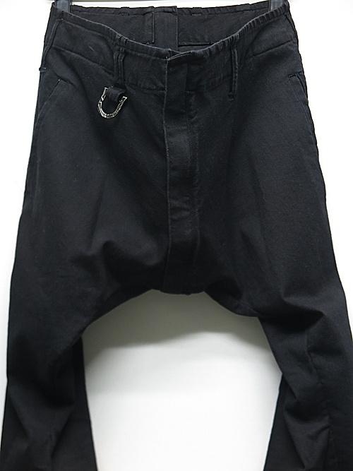 (予約品)2月入荷予定/kiryuyrik・キリュウキリュウ/Black Denim Saruel Bondage Pants/Black