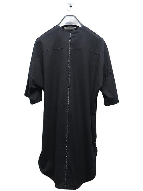 (予約品)2〜3月入荷/KMRii(ケムリ)Cotton Back Stitch Crush Cut/ SS/BLACK