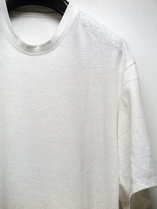 SALE50%OFF/JULIUS・ユリウス/NOIL COTTON CREPE CUT & SEWN WHITE(プリントなし).