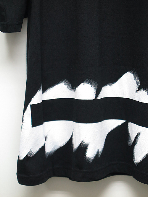 SALE30%OFF/Ground Y・グラウンドワイ・Painted 5.6oz cotton Painted Big T-Shirt/ブラック