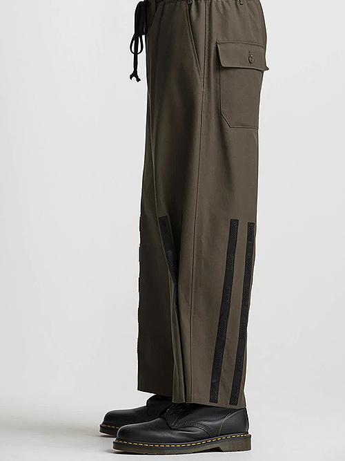 Ground Y・グラウンドワイ/Cotton canvas Easy jopper pants/KHAKI