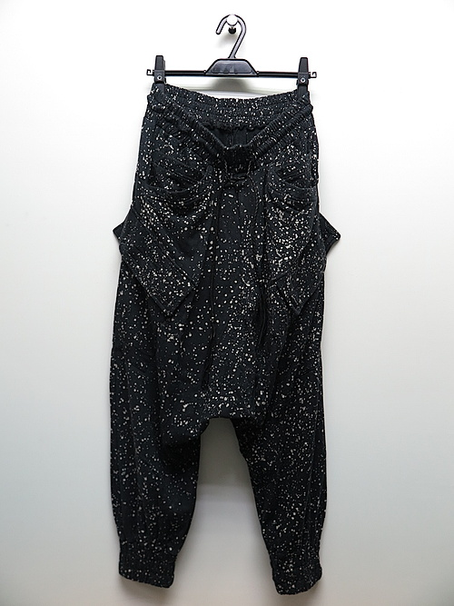 SALE40%OFF/KMRii・ケムリ/Bamboo Cotton Spandex Discharged Bamboo Fleece SRL/BLK