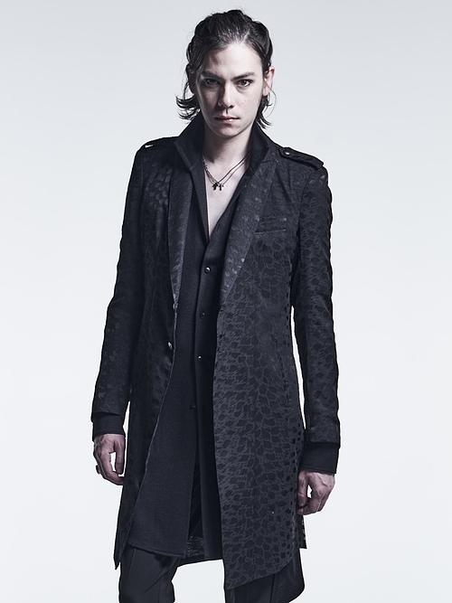 kiryuyrik・キリュウキリュウ/Opal Leopard Epoulet Long Jacket/Black