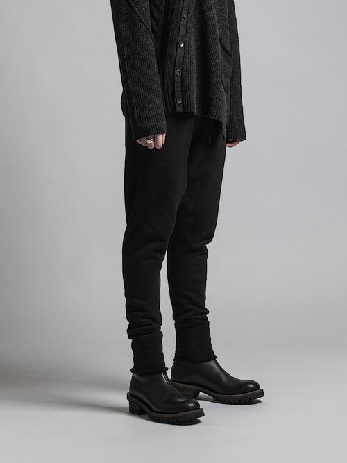The Viridi-anne・ザ ヴィリディアン/片面ヘビーパイル パンツ/BLACK