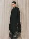 (予約品)2〜3月入荷/nude:masahiko maruyama ・ヌード:マサヒコマルヤマ/GARMENT DYED OVER SIZED LONG SHIRT w/#0 THREAD OVER LOCK/Black