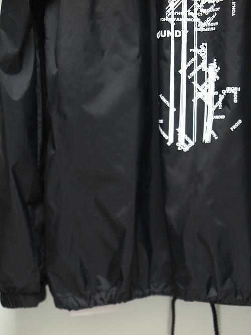 Ground Y・グラウンドワイ/Random Logo Nylon Logo A coach jacket/BLACK