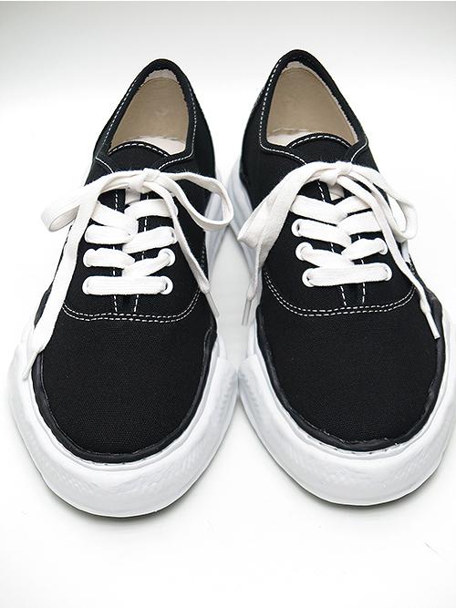 (予約品)10月入荷/MIHARA YASUHIRO・ミハラヤスヒロ/original sole lowcut sneakerr/BLK