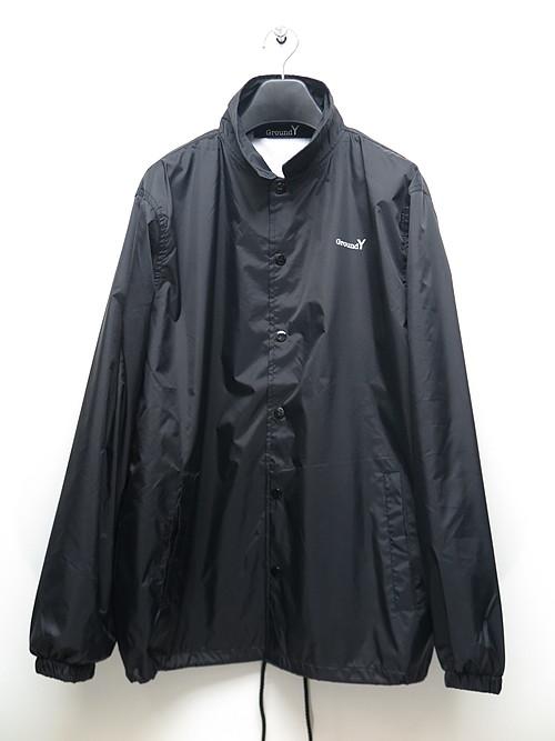 Ground Y・グラウンドワイ/Random Logo Nylon Logo B coach jacket/BLACK