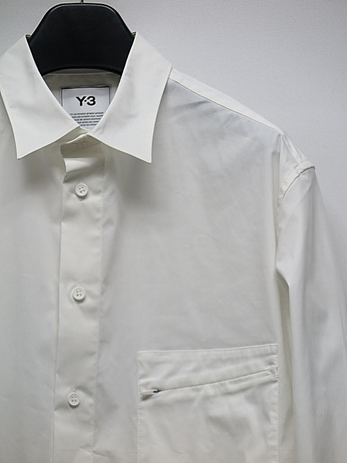 Y-3・ワイスリー/M CLASSIC CHEST LOGO BUTTON DOWN SHIRT  /CORE WHITE