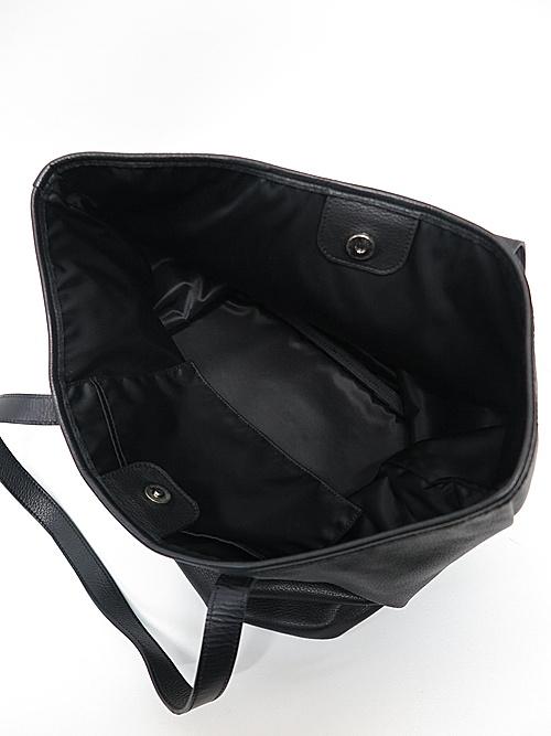 (予約品)6月入荷予定/kiryuyrik・キリュウキリュウ/Cow Studs Leather Tote Bag/Black