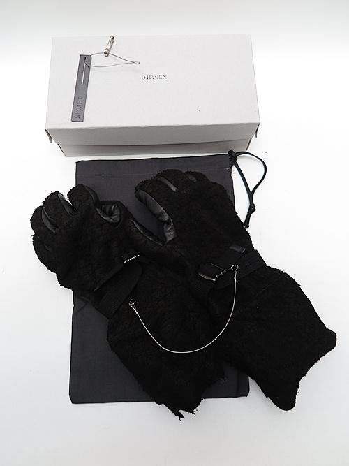 D.HYGEN・ディーハイゲン/デストロイディアスキンロンググローブ/BLACK