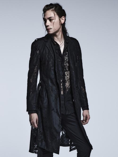 (予約品)4月入荷予定/kiryuyrik・キリュウキリュウ/Opal Lace Flare Jacket/Black