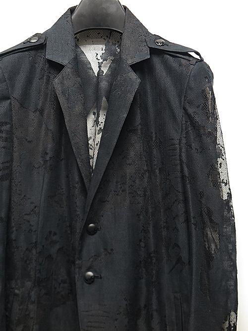 kiryuyrik・キリュウキリュウ/Opal Lace Flare Jacket/Black