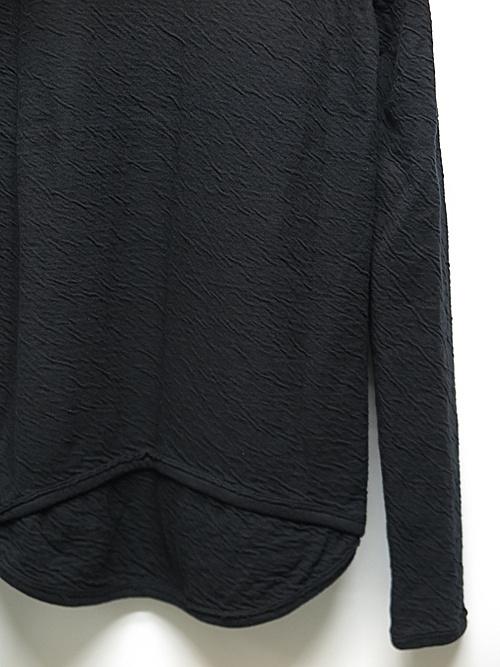 D.HYGEN・ディーハイゲン/接結コットン×ウールジャージーロングスリーブTシャツ/BLACK