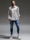 (予約品)8月入荷/RESOUND CLOTHING・リサウンドクロージング/EX denim jersey  EDGE PT/DIND