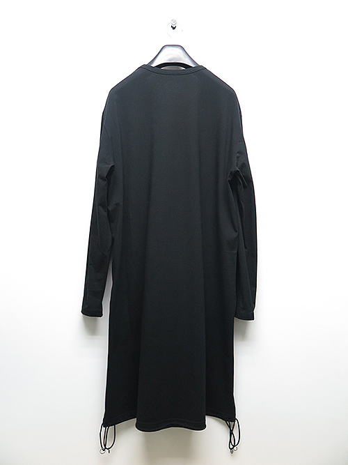 Ground Y・グラウンドワイ・30/Cotton Jersey A Tied Long Sleeve/ブラック