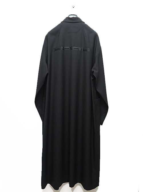 Ground Y・グラウンドワイ/T/W gaberdine Back tape Long shirt Jacket/BLACK.