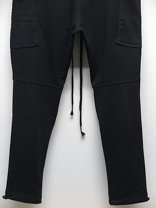 The Viridi-anne・ザ ヴィリディアン/スウェット細身パンツ/BLACK