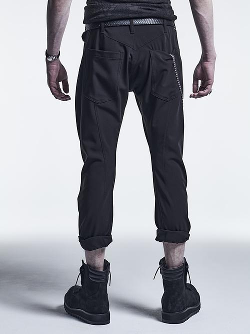 (予約品)7月入荷予定/kiryuyrik・キリュウキリュウ/Stretch Twill Curved Pants/Black