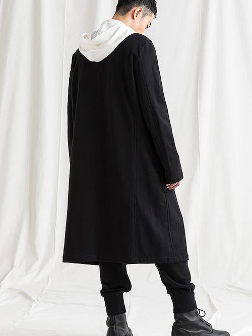 SALE30%OFF/Ground Y・グラウンドワイ/Mini Fleece Pile No collar rib cardigan/BLACK.
