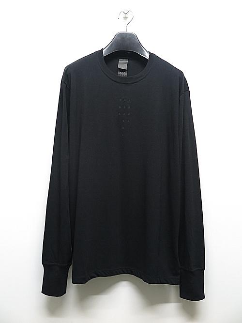 The Viridi-anne・ザ ヴィリディアン/40/- 天竺 刺繍長袖T/BLACK