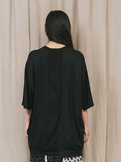 (予約品)2〜3月入荷/nude:masahiko maruyama ・ヌード:マサヒコマルヤマ/OVERSIZED SHORT SLEEVE T SHIRT/Black