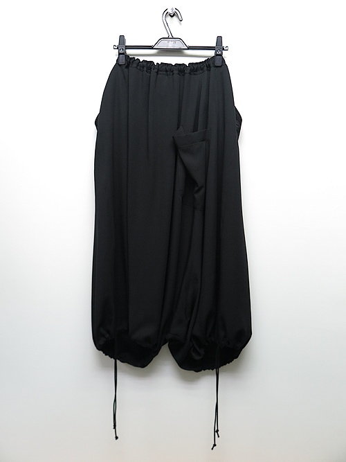 Ground Y・グラウンドワイ/TE/Burberry Drape short balloon Pants/BLACK