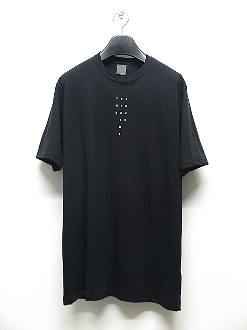 SALE40%OFF/The Viridi-anne・ザ ヴィリディアン/40/- 天竺  ロゴ刺繍 T/BLK