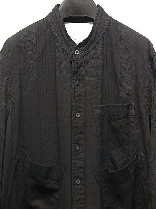 nude:masahiko maruyama ・ヌード:マサヒコマルヤマ/Garment Dyeing Oversized Long Shirt/Black