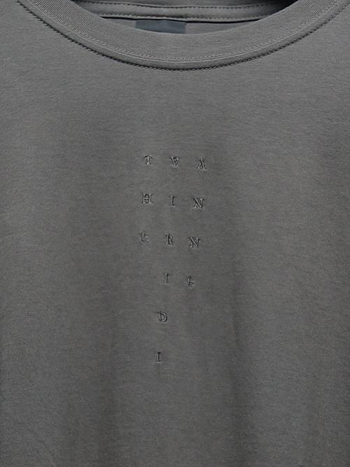 The Viridi-anne・ザ ヴィリディアン/40/- 天竺 刺繍長袖T/G.KHAKI