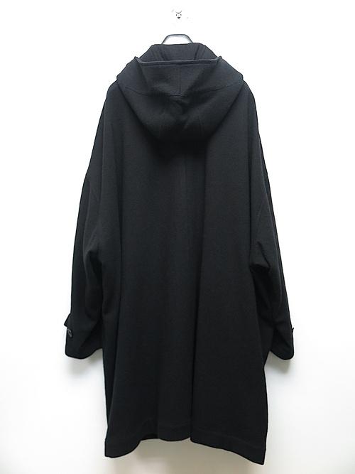 Ground Y・グラウンドワイ/Vintage Flannel Big hood coat/BLACK