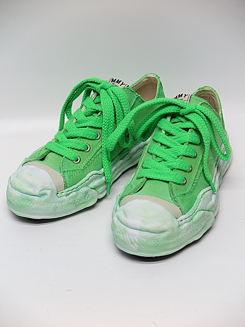 MIHARA YASUHIRO・ミハラヤスヒロ/HANK low - original TC sole over dyed low-cut sn/NEON GREEN.