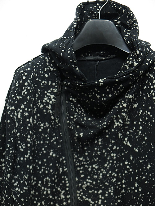 SALE40%OFF/KMRii・ケムリ/Bamboo Spandex Discharged Hooded Drape Rider 01/BLACK.
