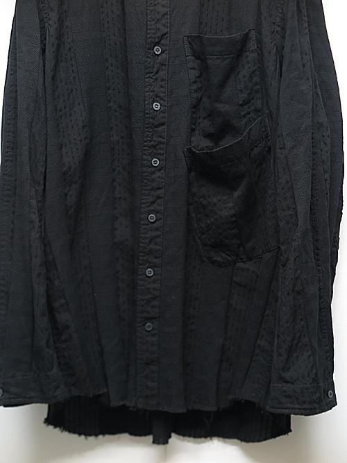 (予約品)7〜8月入荷予定/nude:masahiko maruyama ・ヌード:マサヒコマルヤマ/Garment Dyeing Oversized Shirt/Black
