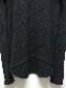 D.HYGEN・ディーハイゲン/カシミヤ×ウールジャガードニットクロスハイネックロングスリーブTシャツ/BLACK