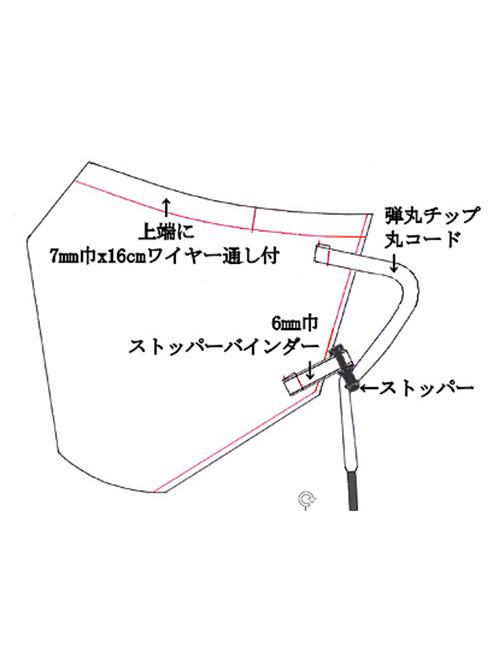 (予約品)4月入荷予定/kiryuyrik・キリュウキリュウ/Mesh Face Cover/Black