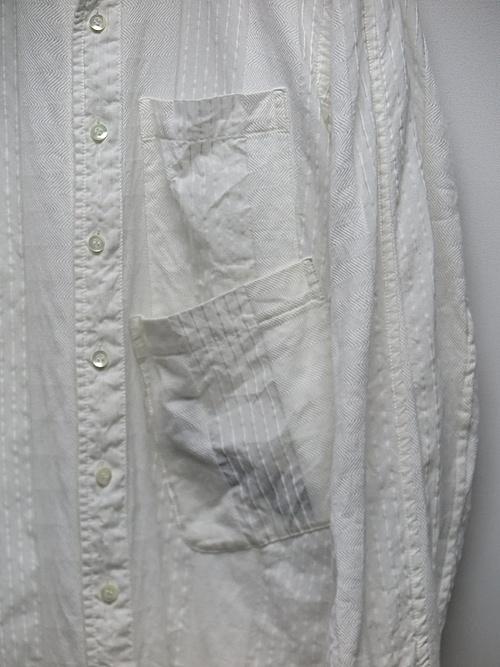 (予約品)7〜8月入荷予定/nude:masahiko maruyama ・ヌード:マサヒコマルヤマ/Garment Dyeing Oversized Shirt/Off White