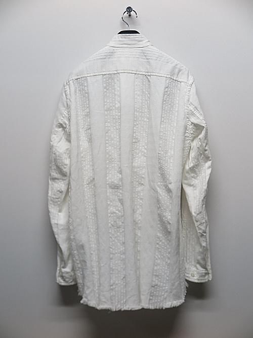 nude:masahiko maruyama ・ヌード:マサヒコマルヤマ/Garment Dyeing Oversized Shirt/Off White