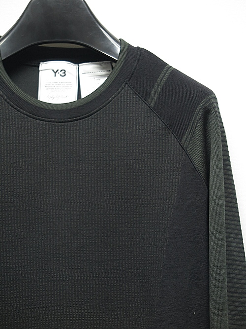 Y-3・ワイスリー/M CLASSIC KNITTED BASE LAYER LS TEE/BLACK CARBON