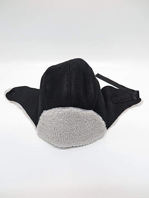 The Viridi-anne・ザ ヴィリディアン/ムートン帽子/BLACK