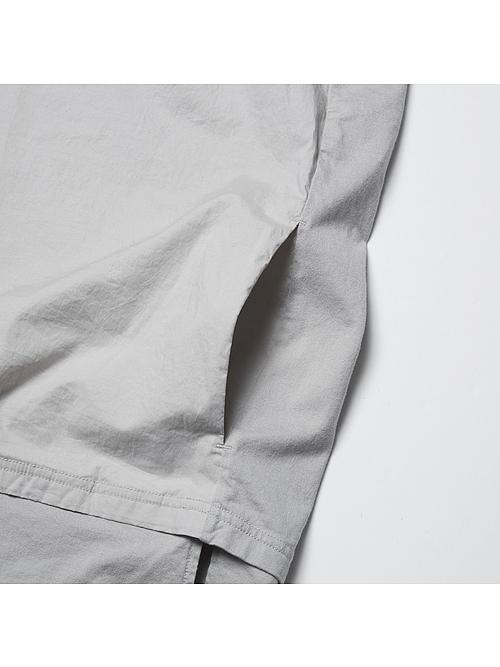 RIPVANWINKLE・リップヴァンウィンクル/モダン天竺 ブロードストレッチ LAYERED L/S/EIGER GRAY