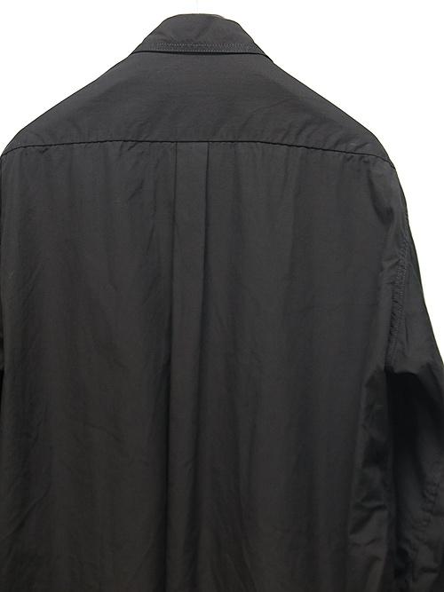 Yohji Yamamoto・ヨウジヤマモト/環縫いブロードA-切替胸PK環縫いシャツ・ブラック.