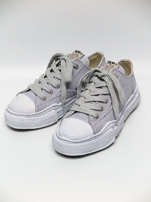 MIHARA YASUHIRO・ミハラヤスヒロ/PETERSON low - original sole over dyed low-cut sn/GREY