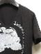 kiryuyrik・キリュウキリュウ/TENJIKU Skull PRINT V-Neck T-Shirts/Black