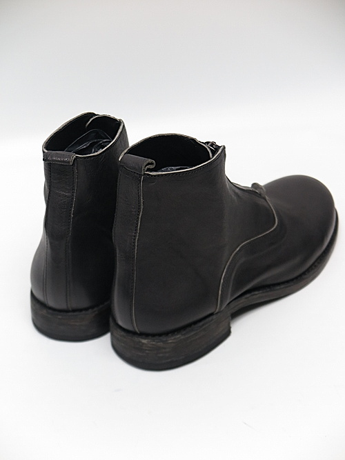 Portaille・ポルタユ/front zip boots Soft tanned horse leather(馬革) : Black