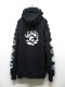 Moonage Devilment・ムーンエイジデビルメント/sads collaboration GRAPHIC OVER PULL HOODIE type B/BKxWH.