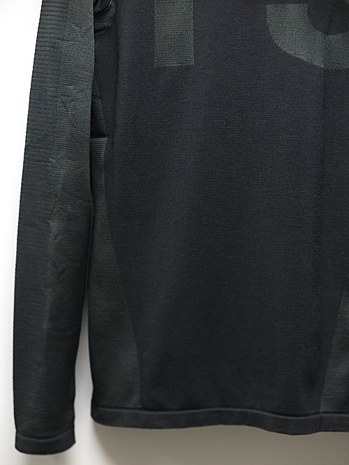 Y-3・ワイスリー/M CLASSIC KNITTED BASE LAYER HALF-ZIP TOP/BLACK CARBON